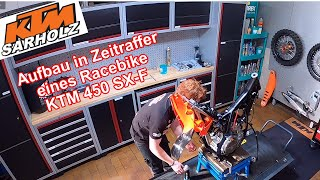 Aufbau in Zeitraffer eines Racebike KTM 450 SX-F von KTM Sarholz