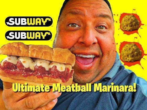 SUBWAY® Ultimate Meatball Marinara Sandwich Review!