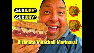 SUBWAY® Ultimate Meatball Marinara Sandwich Review!