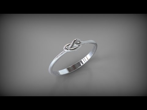 Кольцо - Узелок. Ring Knot. Rhinoceros 3D. Tutorial.