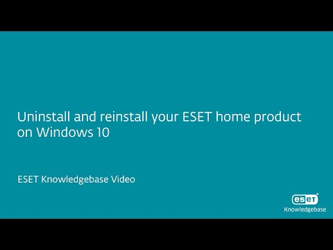 Uninstall and reinstall your ESET home product on Windows 10