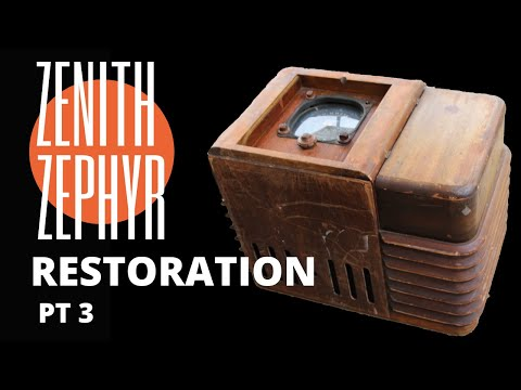 Zenith Zephyr Chairside 1936 Radio Restoration Part 3 from YouTube · Duration:  10 minutes 15 seconds