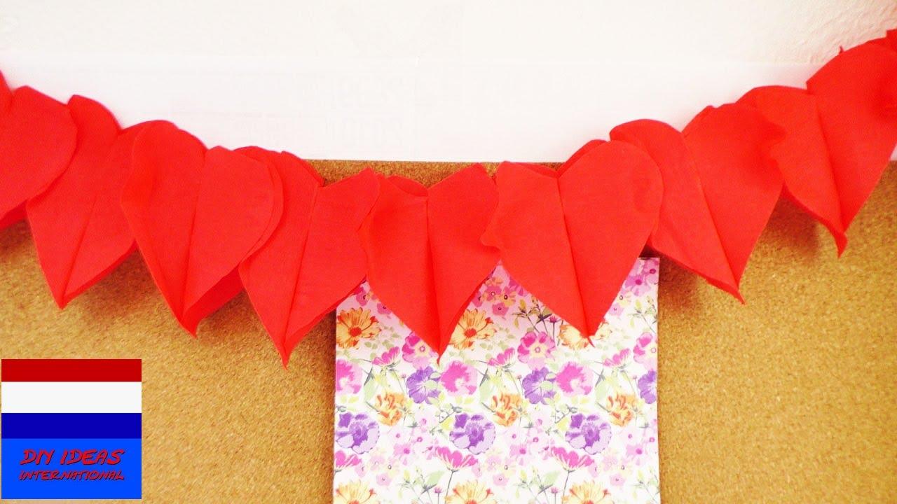 Hartenslinger zelf maken voor valentijn decoratie voor for Zelf decoratie maken
