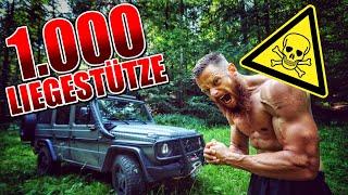 1.000 LIEGESTÜTZE IN 1 STUNDE | Fritz Meinecke