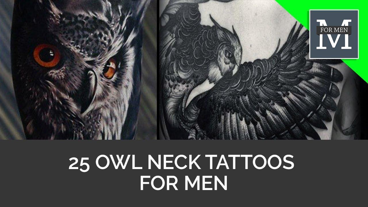 ec60ee7c0 25 Owl Neck Tattoos For Men - YouTube