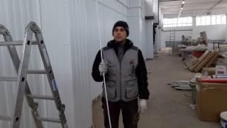 Монтаж кабель-канала по профлисту.(, 2016-12-01T05:22:21.000Z)