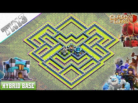 NEW Best! Town Hall 13 (TH13) Base | TH13 Trophy/Farming Base With Copy Link | Clash Of Clans