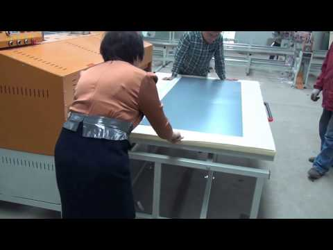 large 2200 mm *2500mm heat transfer printing machine working video