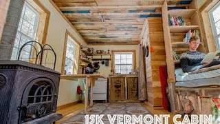 15k Off Grid Tiny House In Vermont- Gorgeous!