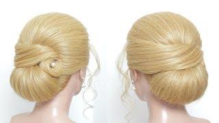 Sleek Elegant Updo For Wedding. Hairstyles For Long Medium Hair