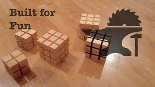 Built for Fun 14 Rubik's cube en bois d coration / Rubik's cube in wood decoration
