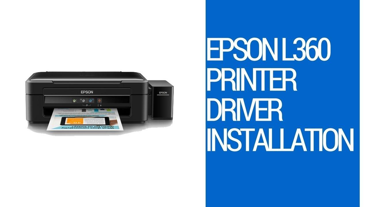 epson l360 printer installer for windows 7