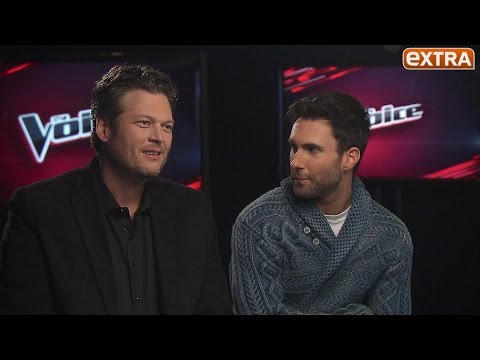 Adam Levine and Blake Shelton Trash-Talk Over 'The Voice,' Gush About Each Other's Wives