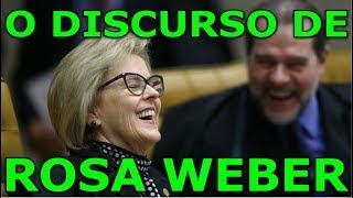 O falso discurso de direitos humanos de Rosa Weber