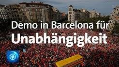 Barcelona: Eine Million demonstrieren für Unabhängigkeit