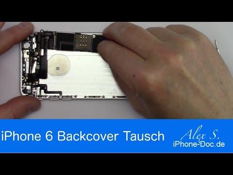 IPhone 6 Backcover, Gehäuse, Rückseite wechseln, tauschen, umbauen, Deutsch, reparieren, bendgate