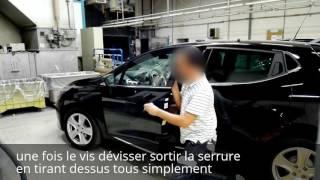 Tuto demontage poignee de porte avant Renault Clio 4 / disassembly front door handle Renault Clio 4