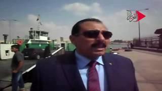 فيديو وصور  إجراءت مشددة لتأمين «معدية نمرة 6» بقناة السويس