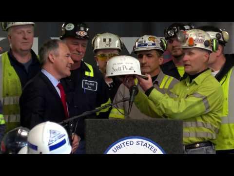 EPA Administrator Pruitt Visits Pennsylvania Coal Mine