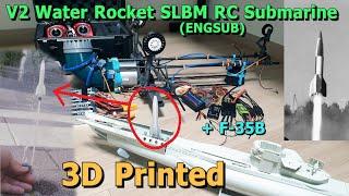 RC잠수함에 부탄가스로 SLBM 물로켓 만들면 잘 날아갈까? / Feat. F35B 근황(ENGSUB)