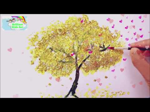 Painting Tutorials for Kids l Step by Step Cotton Tips Acrylic painting for Children by Mum