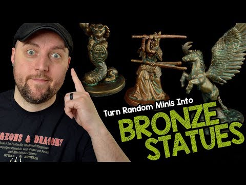 Turn Your Random Unused Miniatures into Bronze Statues for D&D (Black Magic Craft Episode 112)