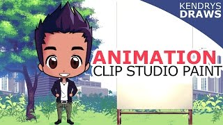 Clip studio paint- How to animate - animation tutorial