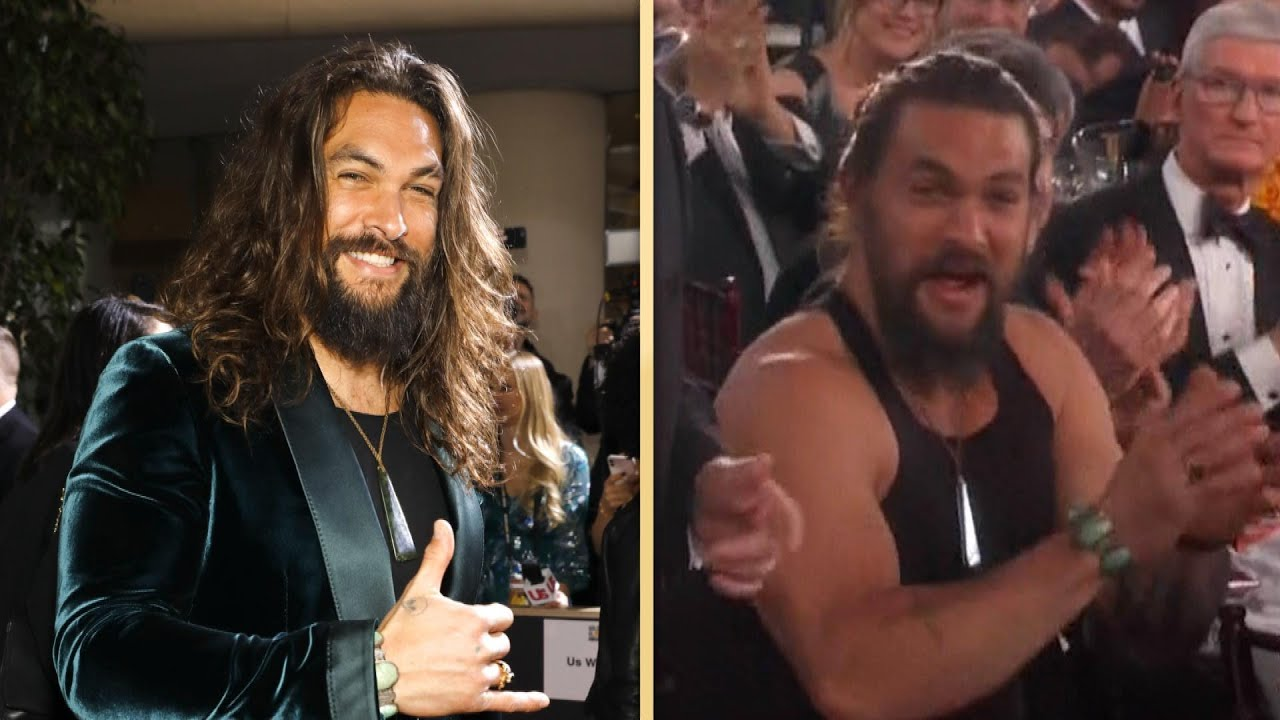 Only Jason Momoa Could Pull Off A Tank Top At The Golden Globes