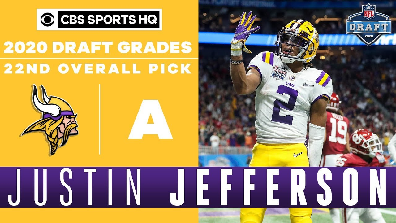 Vikings Select LSU WR Justin Jefferson with 22nd Overall Pick
