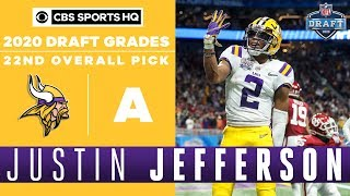Vikings find a WR REPLACEMENT in Justin Jefferson and the 22nd pick | 2020 NFL Draft | CBS Sports HQ
