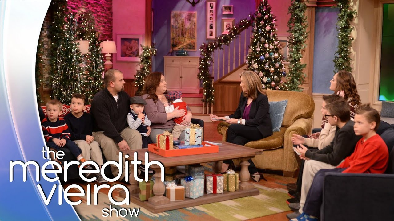 'Secret Santa' Surprise For A Family Who Adopted 8 Brothers! | The Meredith Vieira Show