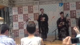 平田まりな&住姫之 有楽町駅前 2014.7.21.