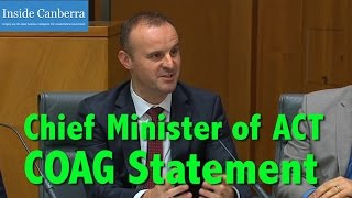 Inside Canberra - COAG - Statement by the ACT Chief Minister
