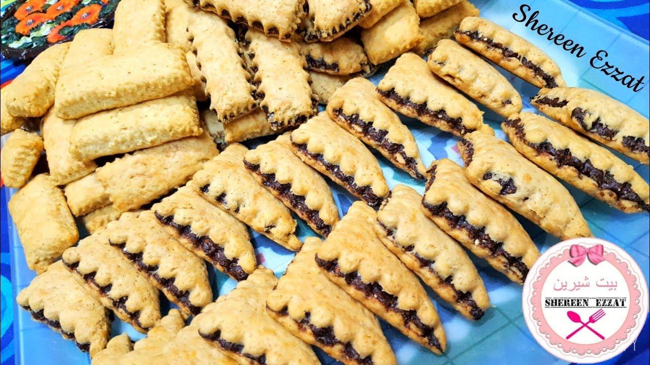 القراقيش اللذيذة المنين سادة وبالعجوة Youtube Bakery Desserts Homemade