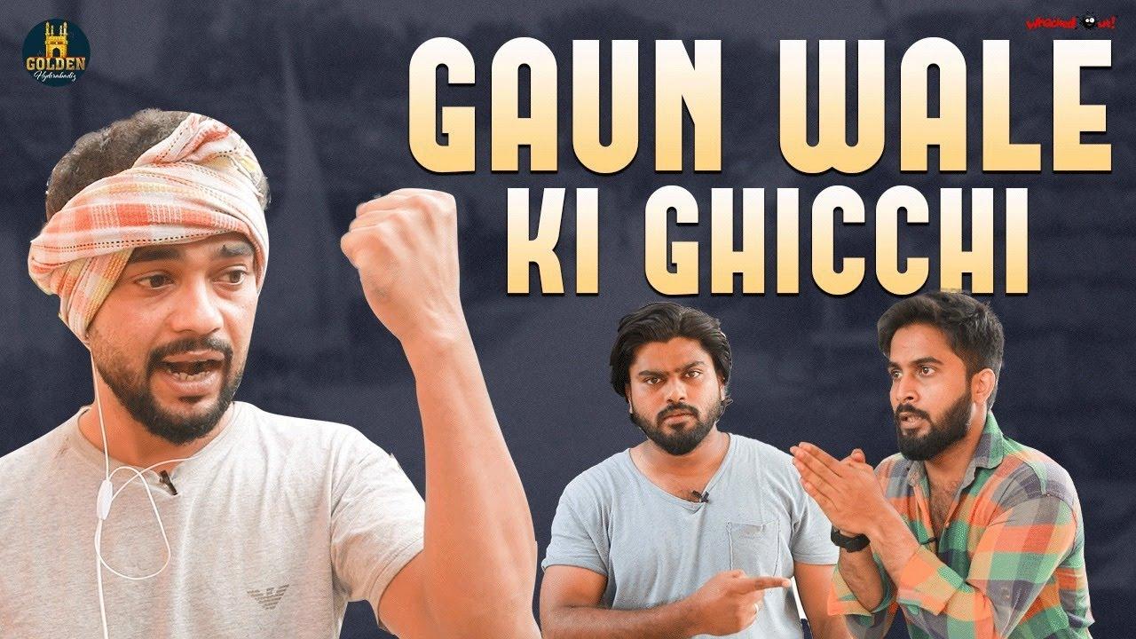 Gaun Wale Ki Ghicchi | Village Boy Comedy 2021 | Funny Videos | Abdul Razzak | Golden Hyderabadiz