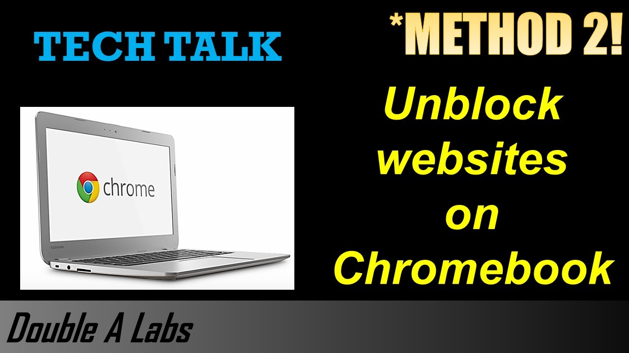 Unblock Websites on Chromebook (Method 2)
