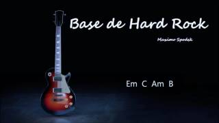 BASE DE HARD ROCK  EN E PARA IMPROVISAR CON LA GUITARRA