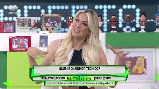 Denilson pressiona Renata: Renato Gaúcho ou Jorge Jesus?