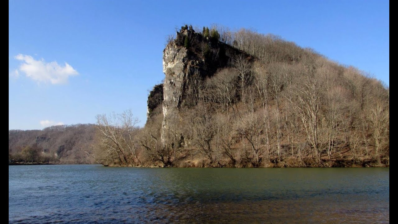 Castle Rock On The New River In Giles County Virginia