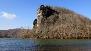 Castle Rock on the New River in Giles County, Virginia