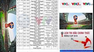 |HOT| LỊCH THI ĐẤU VÀ TƯỜNG THUẬT TRỰC TIẾP WORLD CUP 2018