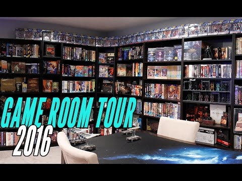 2016 HUGE Games Room Tour - The ULTIMATE GEEK HIDEOUT