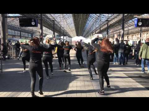 KISS Flash Mob at Helsinki Central Station