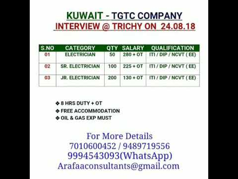 400+ Vacancies   Job's in Kuwait   TGTC Company Kuwait