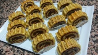 مقروط التمر على شكل رولي في الفرن راااائع جدا \حلويات رمضان