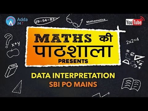 Data Interpretation For SBI PO MAINS   Maths   Online Coaching for SBI IBPS Bank PO