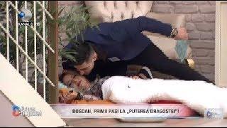 Puterea dragostei (0403)  Bogdan noul concurent a sarutato pe Mary Ce iau pregatit fetele?