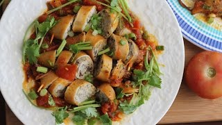 Muc Nhoi Thit Sot Ca (vietnamese Stuffed Squid With Tomato Sauce)