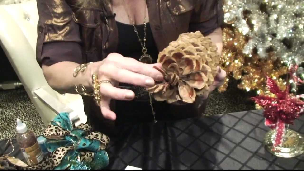 Donna Decorates Dallas How To Diy Pinecone Christmas Ornaments By Donna Moss Donna
