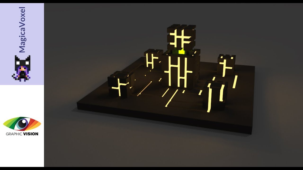 MagicaVoxel Creating a simple Model + Light Emission
